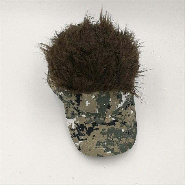 LGFD625B Adjustable fashion party fans black flair hair visor vig baseball  caps FAKE hair hat b42245837493
