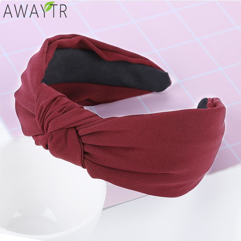 Fashion Hairband Women Satin Bow Elastic Headband Korean Solid Hair Hoop Ladies Hair Accessories Hair Bands for Women   Headwear