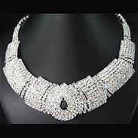New arrival Bridal Black Diamante Crystal Elegant Necklace Earrings Jewelry Set for Wedding Party 5SM1 6KOL 7GNN 7WO6