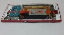 Pantalla lcd + touch asamblea de cristal digitalizador + frame para sony xperia m4 aqua e2333 e2303 versión dual sim reemplazo rojo
