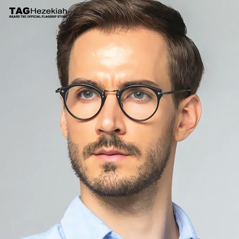 Brand round optical glasses frame women titanium eye glasses frames for men Myopia computer spectacles ov505