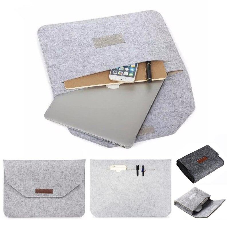Ultra Slim de manga bolsa para Macbook Retina aire 11 12 15,4 nueva 13 Pro 15 Touch Bar, cubierta de xiaomi 13,3 portátil de 15,6 caso