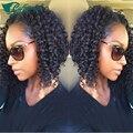 6A corto y rizado U parte pelucas de cabello humano 100% sin procesar pelo humano brasileño rizado rizado U parte pelucas para mujeres negras