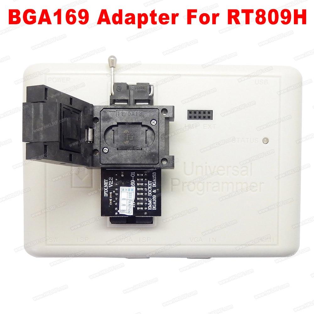 Free shipping RT BGA169 01 BGA169 BGA153 EMMC Adapter V2 2 With 3pcs BGA bounding box