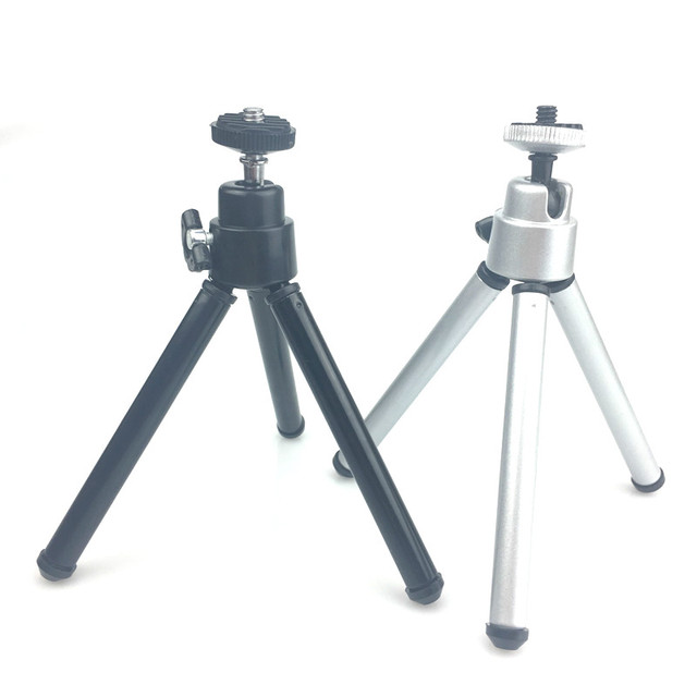 Mini Tripods For iphone Xiaomi Aluminum Metal Live Tripods With Phone Clip Stand Mount for Nikon Gopro 5 4 Session Yi Camera