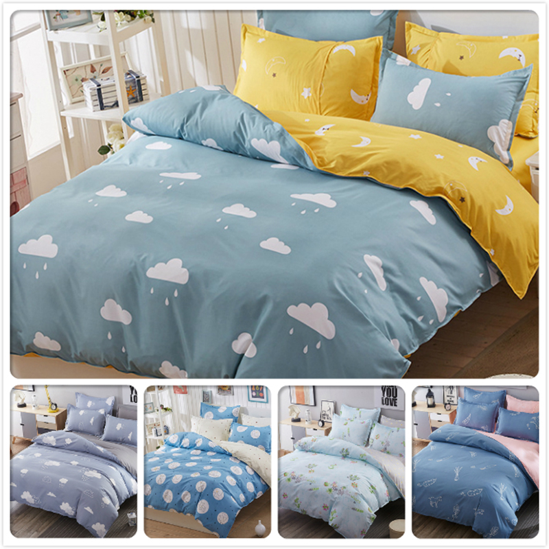 Full King Queen Twin Double Single Size Duvet Cover Winter Cotton 3/4 pcs Bedding Set Kids Bed Linens 1.5m 1.8m 2m 2.2m Bedlinen