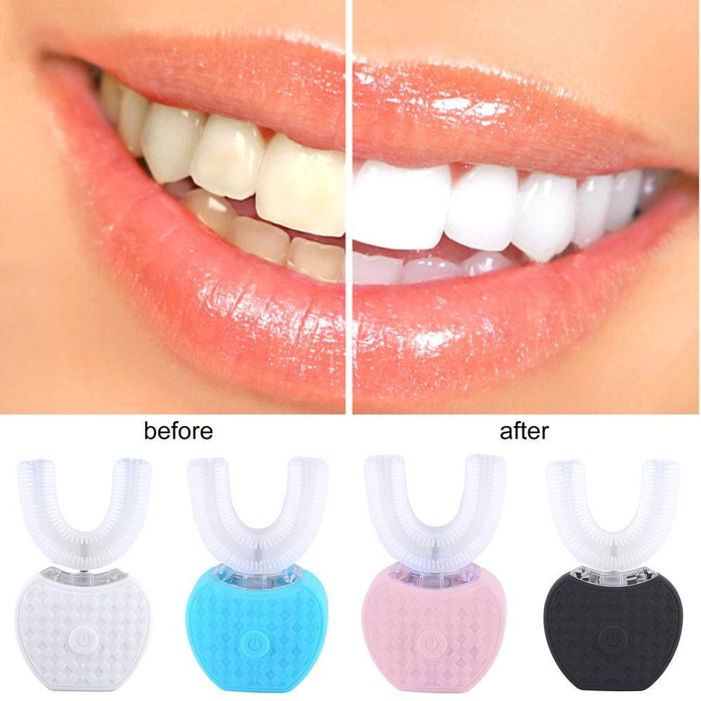 The Second Generation V White Beauty Tooth Smart Lazy Sonic Silicone Electric Toothbrush Automatic Tooth Cleaner