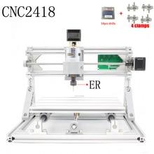 Kontrola Diy CNC maszyna CNC 2418 ER11 GRBL, obszaru roboczego 24x18x4.5 cm, 3 Osi pcb frezarka pcv, Drewno Router Grawer