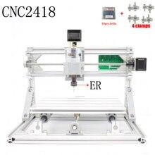 CNC 2418 ER GRBL control Diy CNC machine working area 24x18x4 5cm 3Axis pcb pvc Milling