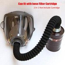"""2 ב 1 ציור ריסוס מסכת גז Samilar תעשייה חדש עבור 6800 מסכת פנים מלא Facepiece Respirator גז צינור עם צינור 40 מ""""מ"""