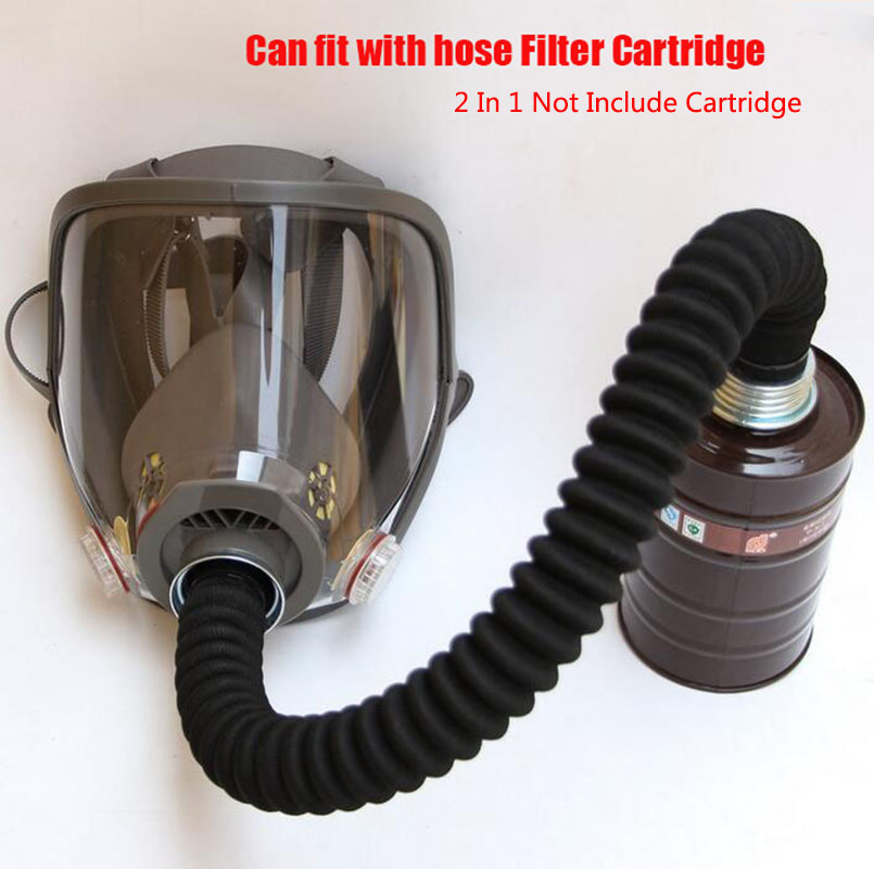 2 In 1 New Industry Painting Spraying Gas Mask Samilar For 6800 Gas Mask Full Face Facepiece Respirator With Hose Tube 40MM