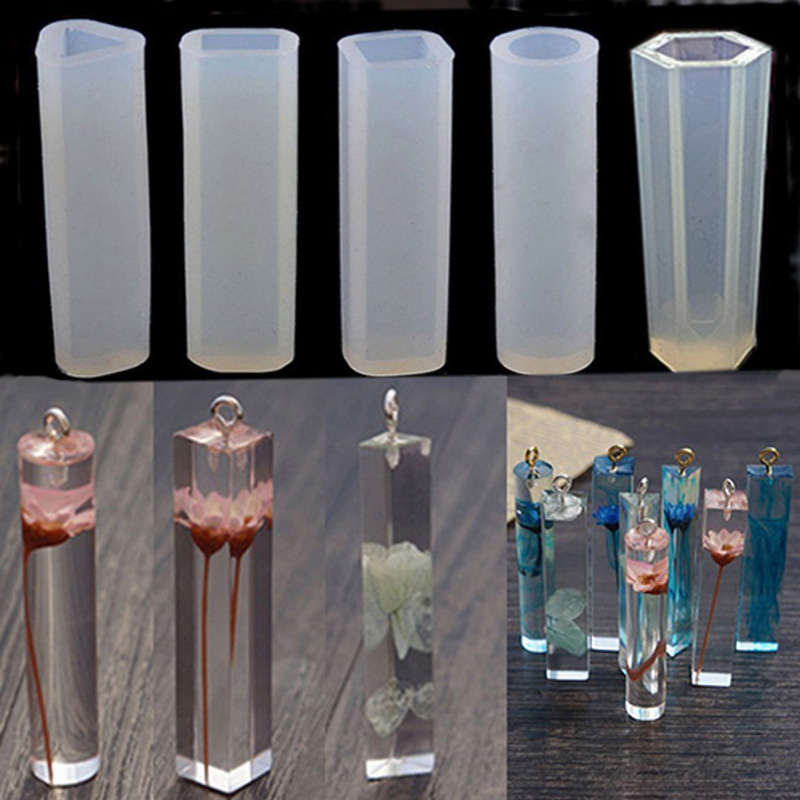 Jewelry Making Tool Non Toxic Cake Decor Embossing Necklace Pendant Flip Sugar Crystal Epoxy Resin Molds Food Grade Silicone