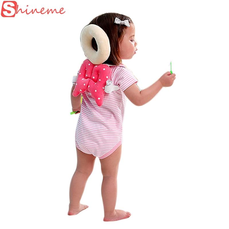 Toddler baby nakke pude nyfødte hoved beskyttelse protektor pad vinger lære låsestang selen hjælpefuld sikkerhedshjelm