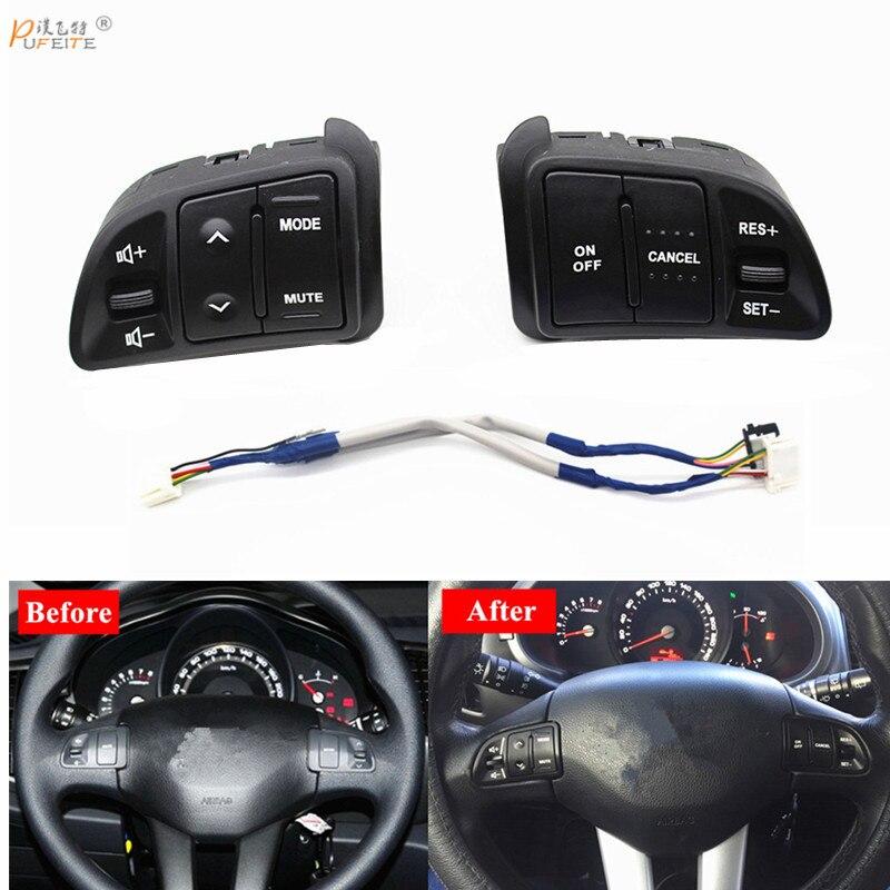 PUFEITE Multi funktion Lenkrad Audio Tempomat Tasten Für Kia sportage mit zurück licht Auto ladung auto styling