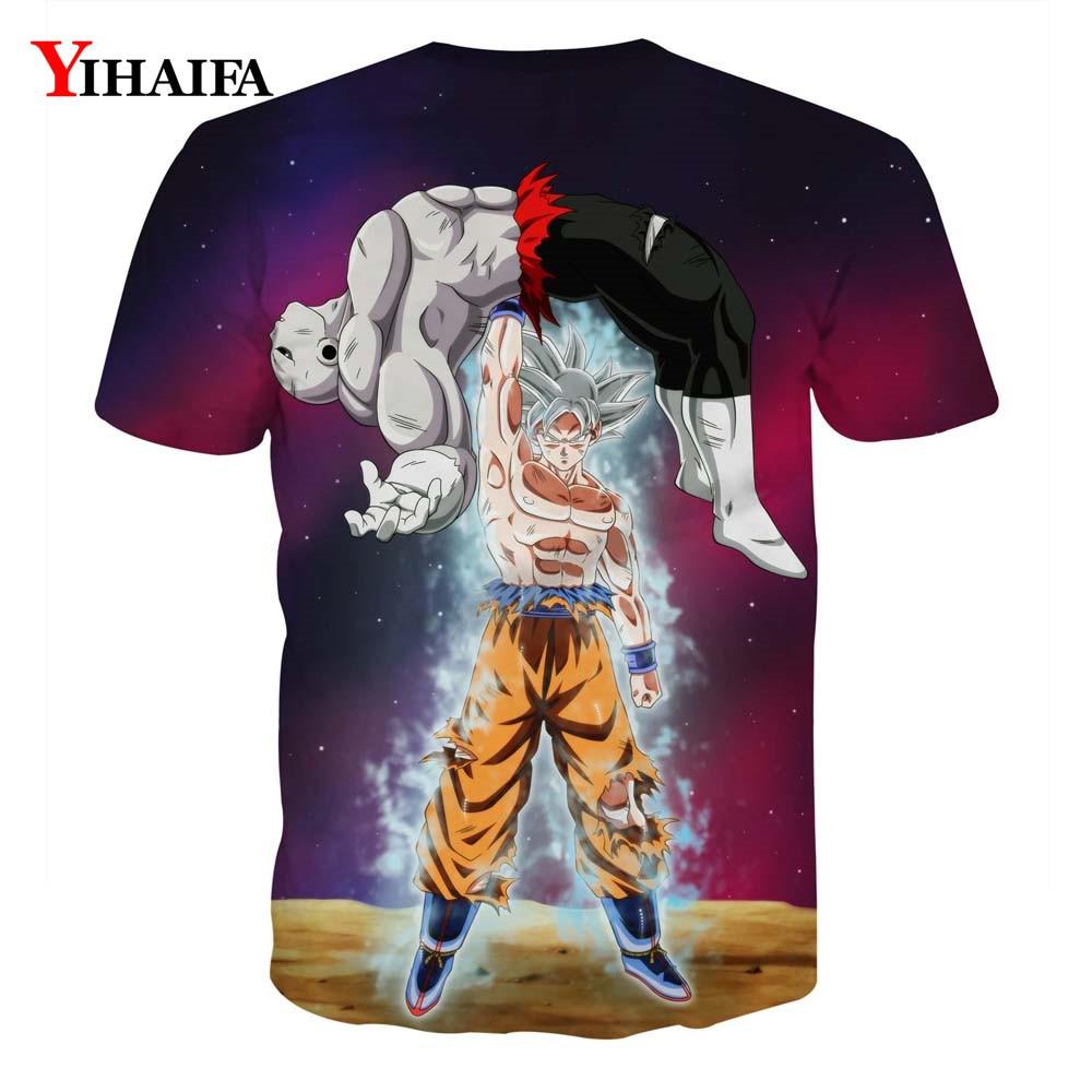 Creative Man 3D T shirt Dragon Ball Z Print Anime Goku Saiyan Casual Tee Shirts Men Cartoon Graphic Tee Crew Neck Tops in T Shirts from Men 39 s Clothing