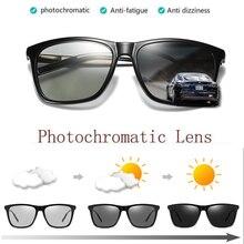 Lunettes de soleil photochromiques rétro pour hommes, polarisées, Vintage, lunettes de soleil, Transition de teintes, lentille changeante tous temps, à la mode