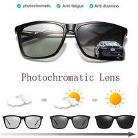 e1b8a1a80 ZJHZQZ Photochromatic Sunglasses Men Retro Polarized Driving Vintage  Fashion Shades Transition Chameleon Lens