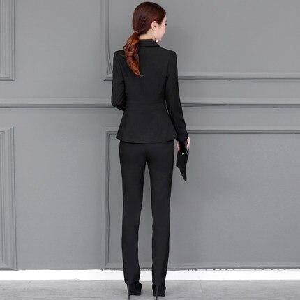 Base Delle gray wirne Red 2018 Plus Donne Blazer Autunno Femminile Ayunsue Lunghi Size Di Feminino Giacca Pantaloni Ol Nuovi Abiti Lx1399 Dell'ufficio Cime Black 1OqwUx
