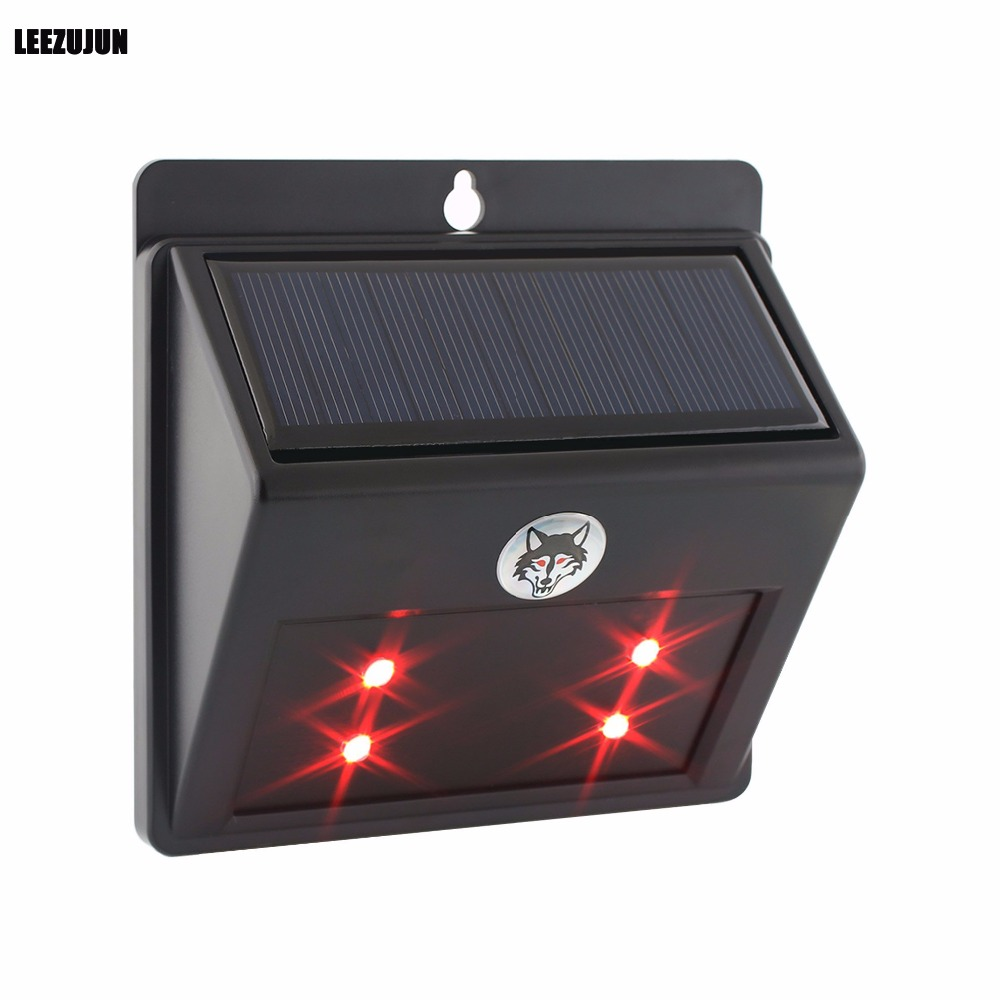 Solar Powered Predator Deterrent LED luce spaventa cervi, nocivo notturno animale repellente, accessori pollaio