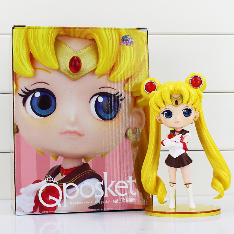 "5 Styles Anime  Sailor Moon Q Posket Queen Jupiter Venus Pluto Action Figure Toys Collective Dolls 6""15cm  kunai  pet"