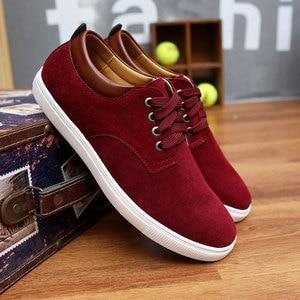 Image 3 - Sneakers men shoes 2020 new fashion suede casual flats shoes men sneakers lace up breathable solid men shoes zapatillas hombre