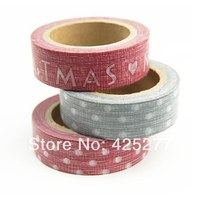 Red Dot Holidays And Paper Tape Lovely Paper Decoration Christmas Handmade Gift DIY Japan Tape 3pcs