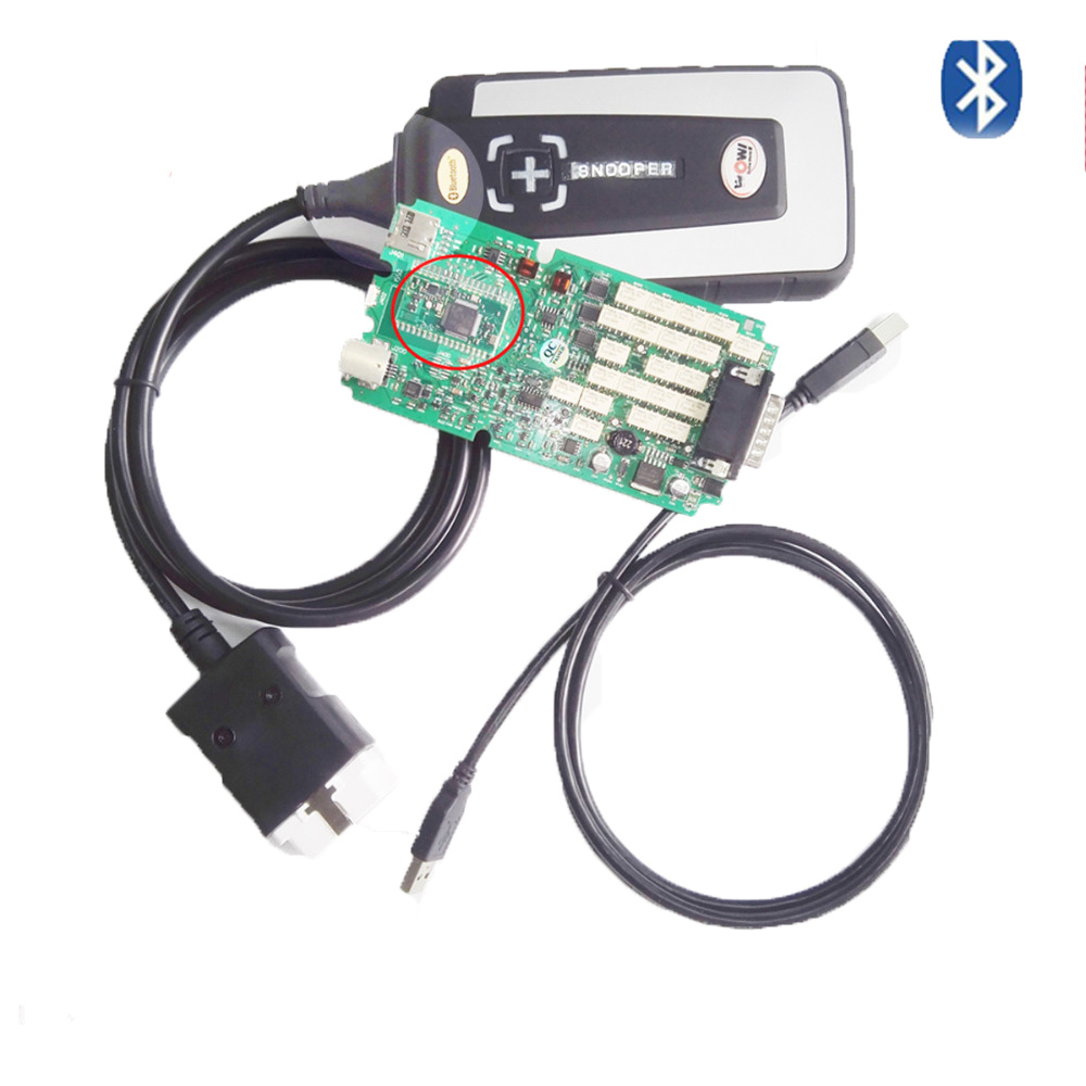 2018 Top vente TCS CDP Bluetooth WOW SNOOPER Unique PCB NEC Relais V5.008 R2 Logiciel SNOOPER TCS CDP pro OBD2 outil de diagnostic