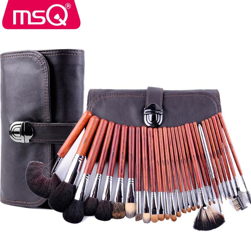 MSQ High-class 28 Pcs Makeup Brushes Set Made From Healthy Animal Hari And Precious Pterocarpus Professional Make Up Brushes healthy and beautiful from head to toe