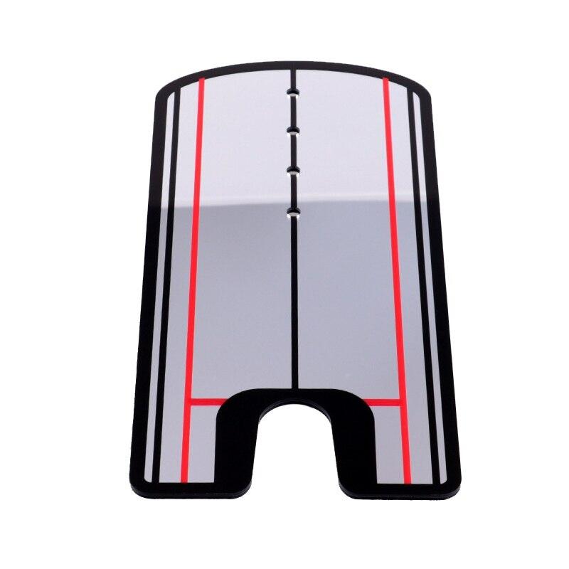 Professional Golf Swing Straight Practice Golf Putting Mirror Alignment Training Aid Eye Line Swing Trainer 32 X 14.5cm