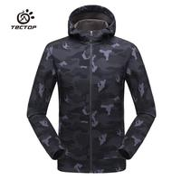 Tectop Waterproof softshell Outdoor Jacket Men Army Tactical Jacket Spring Coat Camouflage Hiking Camping Travel Hunting Clothes