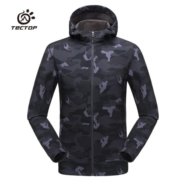 Tectop imperméable softshell veste d'extérieur hommes armée tactique veste printemps manteau Camouflage randonnée Camping voyage chasse vêtements