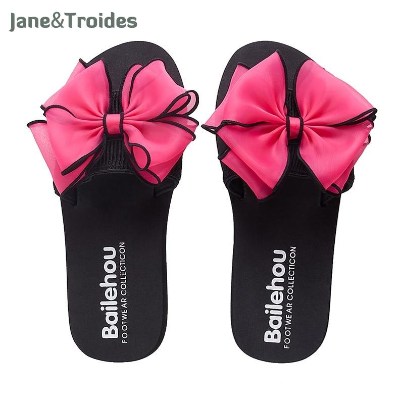 2018 new coming women summer outdoor slippers flower flip flops slides house home pink floral beach flop low flat seaside cool beach house
