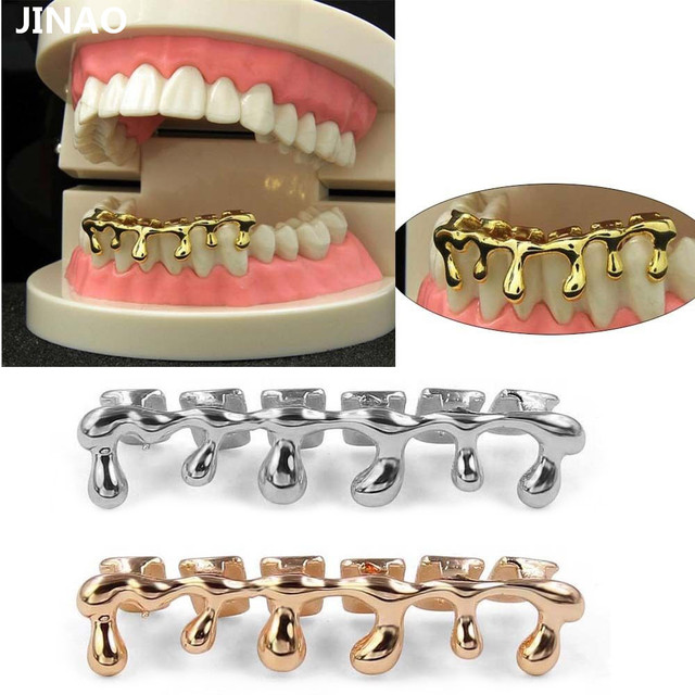 Jinao New Custom Fit Gold Color Rose Plated Hip Hop Teeth