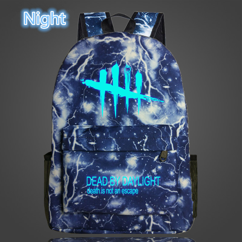 Image 3 - FVIP Cool Game Backpack Dead By Daylight Luminous Backpacks For Teenagers School Bag Travel Bags-in Backpacks from Luggage & Bags