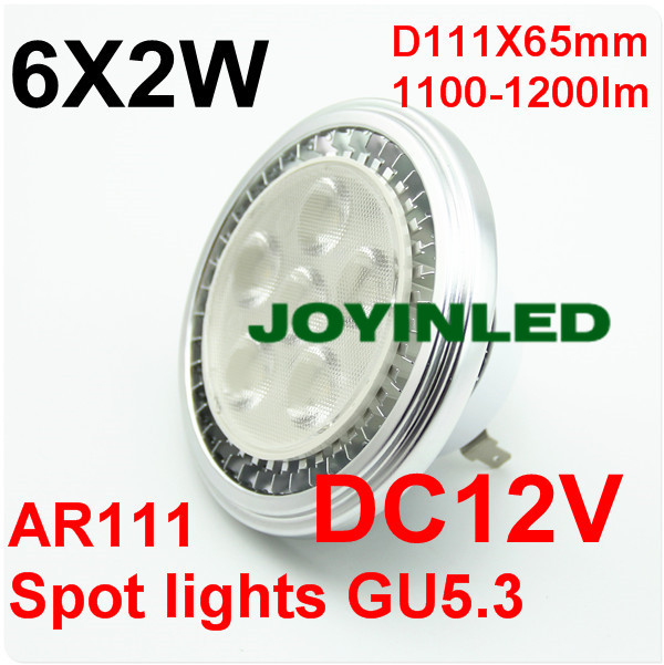 Free Shippng 12W LED AR111 G53 6*2W Spotlight bulb Ultra bright High-power 85~265V Spot Lamp Warranty 2 years CE ROHS ar111 led lamp 12w 6 2w led spot ceiling light high quality es111 qr111 85v 265v daywhite fcc