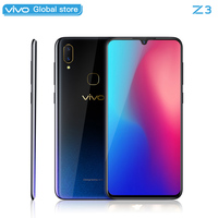 Mobile Phone vivo Z3 Snapdragon 670AIE 16MP Front camera LTE Android 8.1 4GB RAM 128GB ROM 6.3 Screen+ Face ID CellPhone