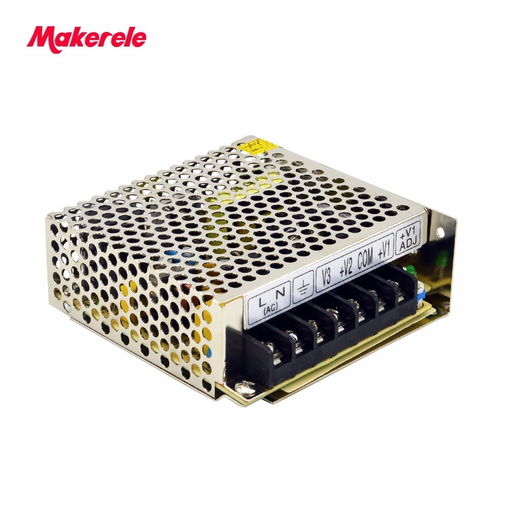 цена на CE approved NET-35D 5V 12V 24V Mingwei Switching Power Supply 35w triple output enclosed  good quality  from maker electric