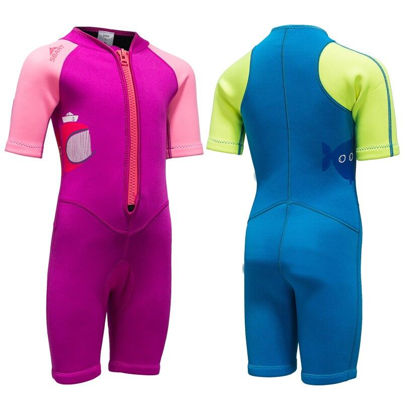 Childrens Short sleeve wetsuit swimsuit beach pool age 6-12 SALE 50/% OFF 1 WEEK