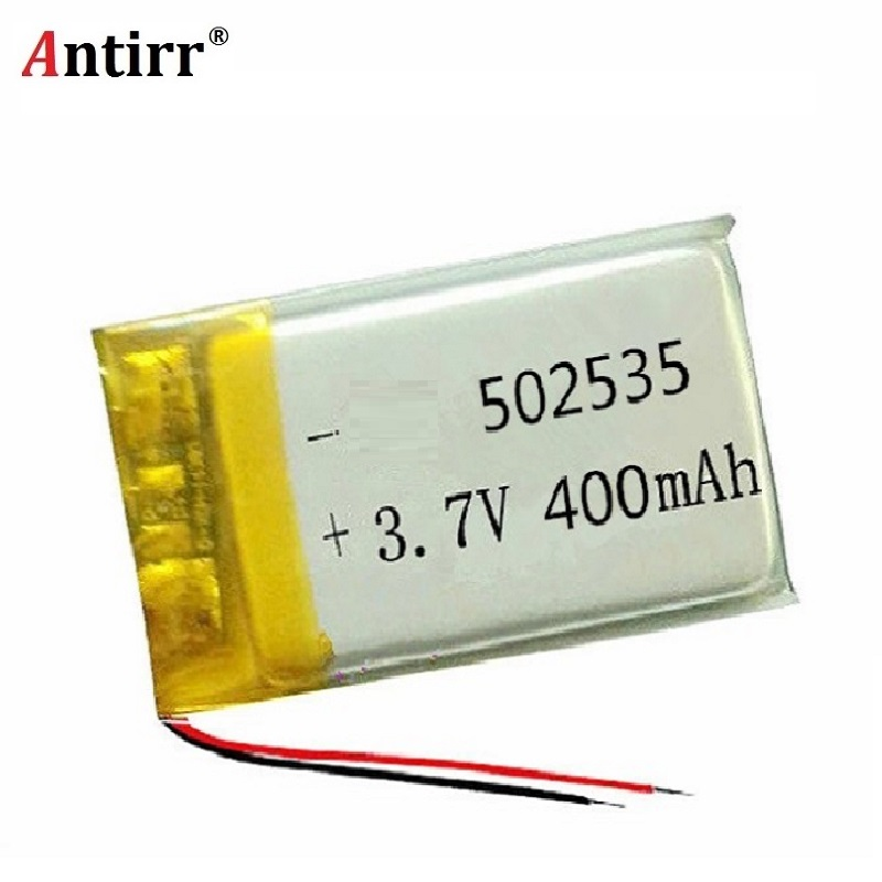 3.7V 400mAh 502535 Lithium Polymer Li-Po li ion Rechargeable Battery cells For Mp3 MP4 MP5 GPS PSP mobile bluetooth free shiping