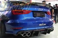 S3 Rear Diffuser Sline S3 Rear Lip Carbon Fiber Rear Bumper Lip A3 Splitter Lip Case for Audi A3 Sline 2013 2014 2015