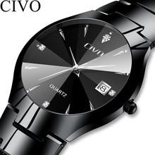 CIVO Relogio Masculino Luxury Brand Watch Men Waterproof Analogue Wristwatch Mens Quartz Watch Business Casual Men Women Watch
