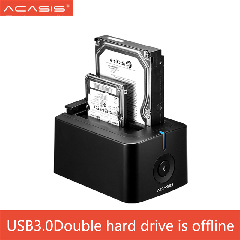 ACASIS USB 3.0 SATA3 Hard Drive Docking Station for 2.5 inch or 3.5 inch HDD Enclosure Cloning Duplicator Box harddisk enclosure 2 5 3 5 sata ide hdd docking station dual hard disk drive dock esata usb hub convenience 17aug30 hh33