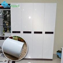 Жемчужно-белый DIY декоративной пленкой ПВХ, самоклеющаяся бумага стены реставрация мебели наклейки кухонный шкаф Водонепроницаемый обои