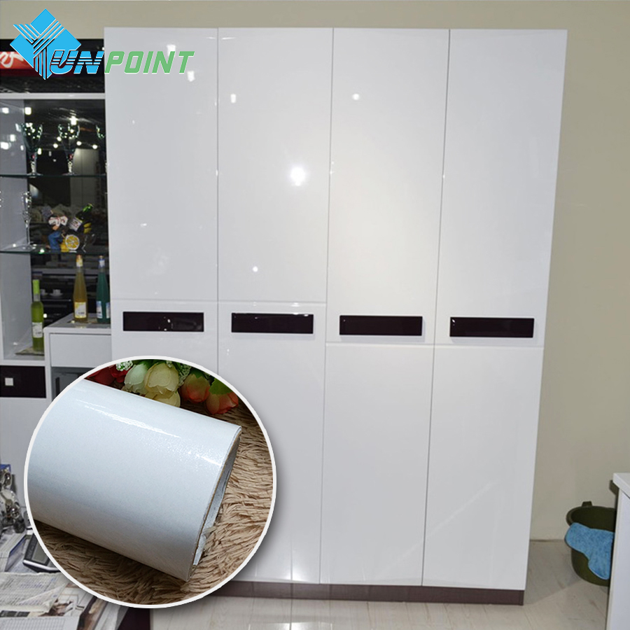 Pearl White DIY Decorative Film PVC Self adhesive <font><b>Wall</b></font> paper Furniture Renovation <font><b>Stickers</b></font> Kitchen Cabinet Waterproof Wallpaper