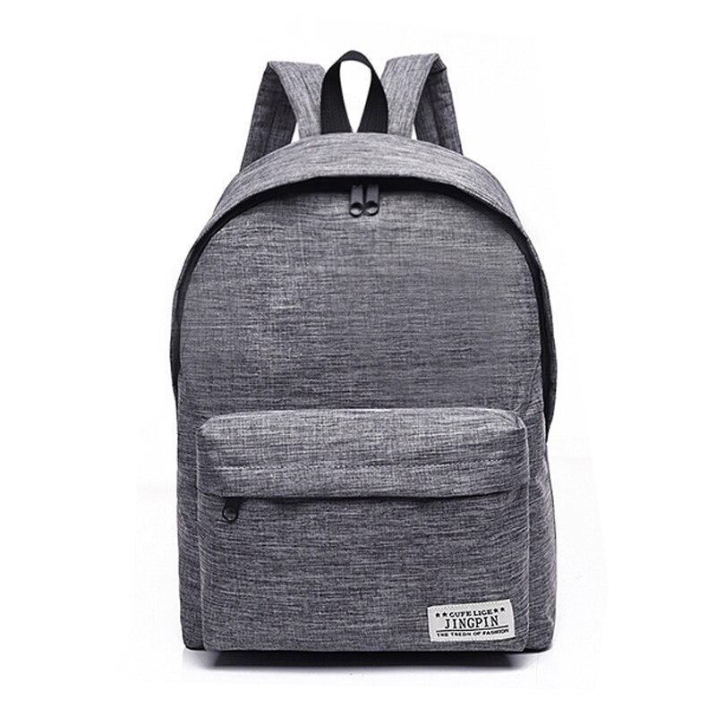 Einfache Leinwand Rucksack Männliche Hochwertigen Schultasche Laptop Rucksack Weiblichen Reise Männer Bagpack Casual Stachels Rucksack Mochila