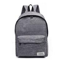 Simple Canvas Backpack Male High Quality School Bag Laptop Backpack Female Travel Men Bagpack Casual Stachels