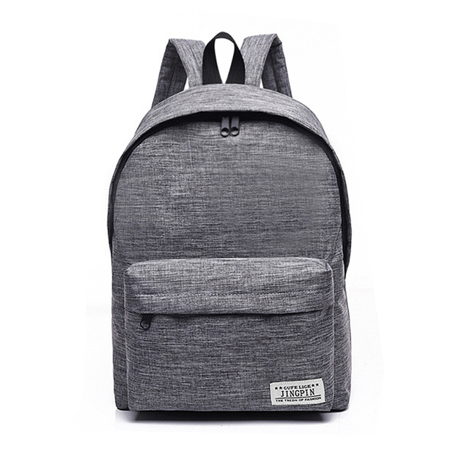 Simple Canvas School Bag Laptop Backpack