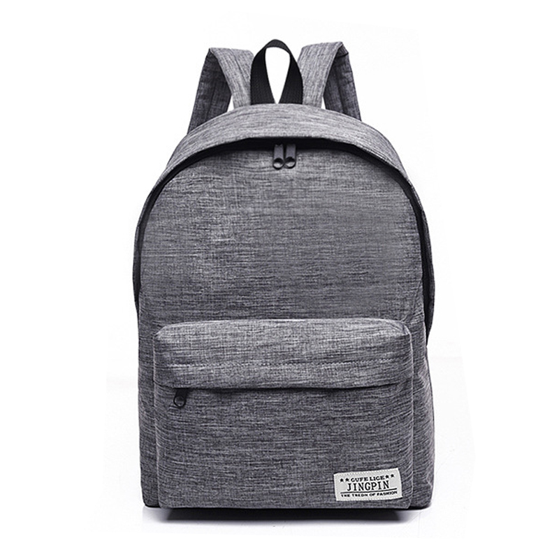Simple Canvas Backpack Male High Quality School Bag Laptop Backpack Female Travel