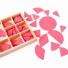 Купить с кэшбэком New Wooden Baby Toys Montessori Geometric Circle Baby Educational Toys Baby Gifts