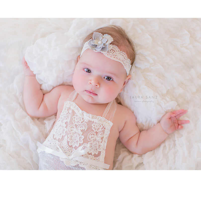 2018 Handmake 6 meses Baby Sitter Romper recién nacido fotografía props bodysuits Flokati accesorios bebé sesión de fotos para estudio